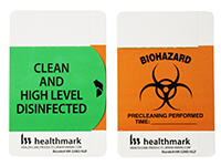 High Level Disinfected Label