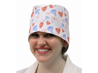 Custom-Printed Cotton Scrub Hats